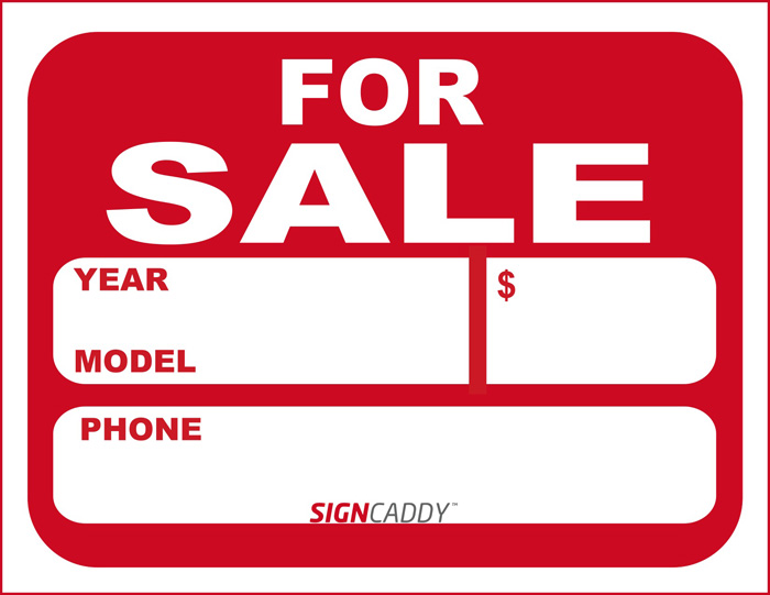 Sale Sign Templates Free For Car For Sale Sign Template Free